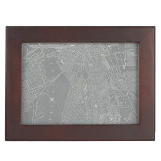 Sketch of Boston City Map Keepsake Box