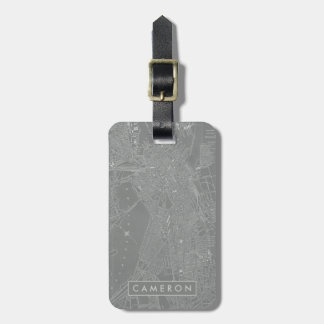 Sketch of Boston City Map Luggage Tag