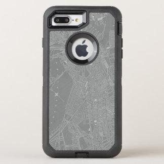Sketch of Boston City Map OtterBox Defender iPhone 8 Plus/7 Plus Case
