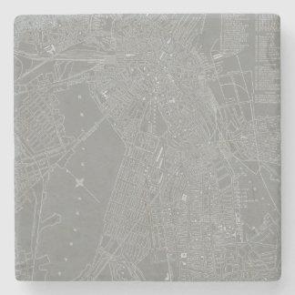Sketch of Boston City Map Stone Coaster