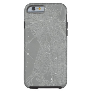 Sketch of Boston City Map Tough iPhone 6 Case