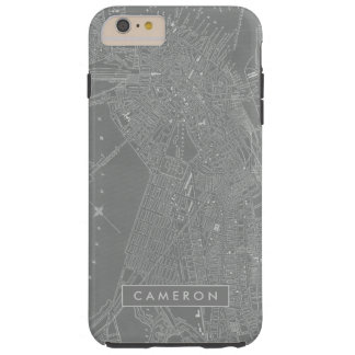 Sketch of Boston City Map Tough iPhone 6 Plus Case