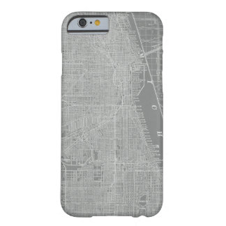 Sketch of Chicago City Map Barely There iPhone 6 Case