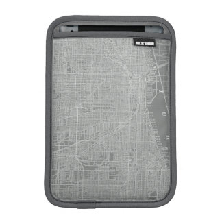 Sketch of Chicago City Map iPad Mini Sleeve
