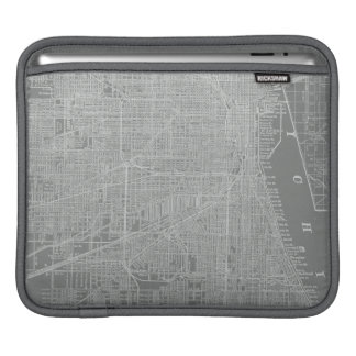 Sketch of Chicago City Map iPad Sleeve