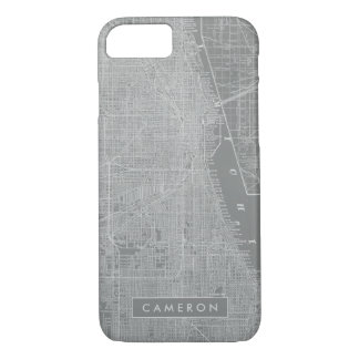 Sketch of Chicago City Map iPhone 8/7 Case
