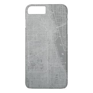 Sketch of Chicago City Map iPhone 8 Plus/7 Plus Case
