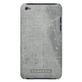 Sketch of Chicago City Map iPod Touch Case-Mate Case