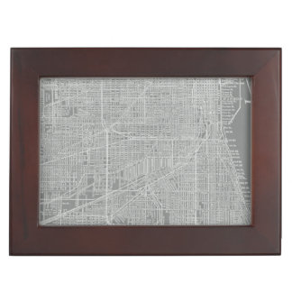 Sketch of Chicago City Map Keepsake Box