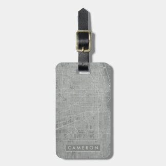 Sketch of Chicago City Map Luggage Tag