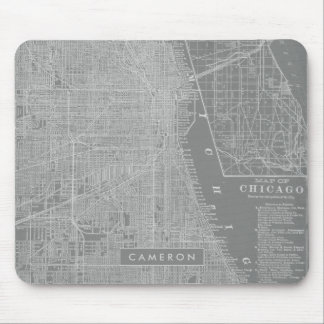 Sketch of Chicago City Map Mouse Pad