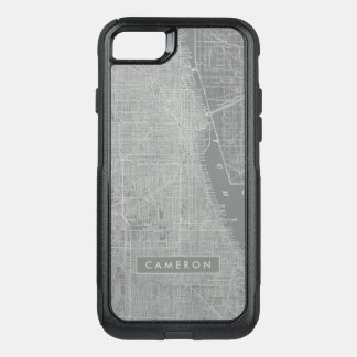 Sketch of Chicago City Map OtterBox Commuter iPhone 8/7 Case