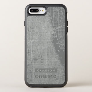 Sketch of Chicago City Map OtterBox Symmetry iPhone 8 Plus/7 Plus Case