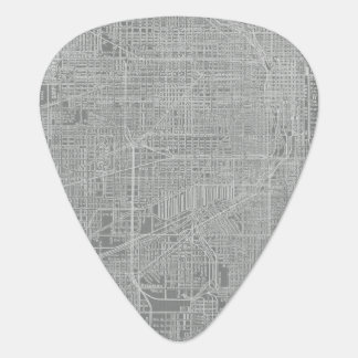 Sketch of Chicago City Map Plectrum