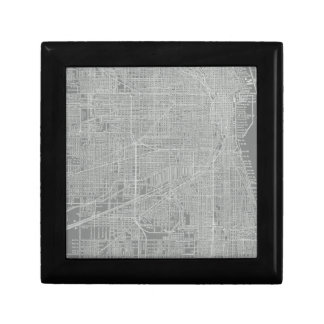 Sketch of Chicago City Map Small Square Gift Box