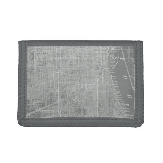 Sketch of Chicago City Map Trifold Wallet