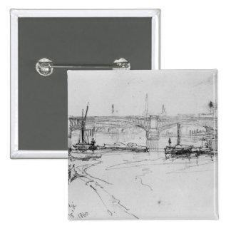 Sketch of London Bridge, 1860 15 Cm Square Badge