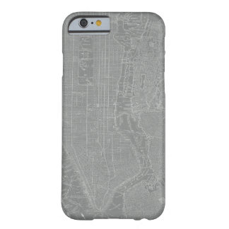 Sketch of New York City Map Barely There iPhone 6 Case