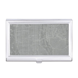 Sketch of New York City Map Business Card Holder
