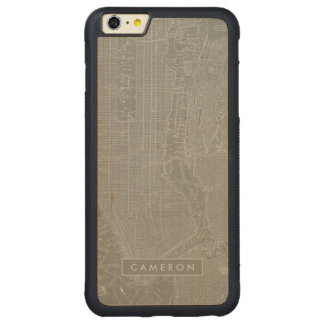 Sketch of New York City Map Carved Maple iPhone 6 Plus Bumper Case