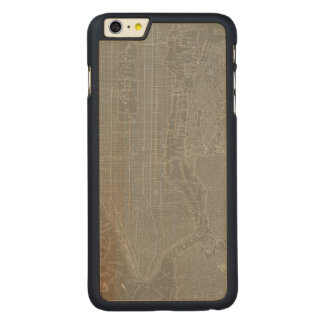 Sketch of New York City Map Carved Maple iPhone 6 Plus Case