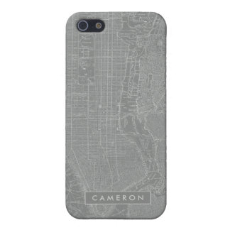Sketch of New York City Map Case For iPhone 5/5S