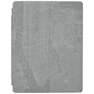 Sketch of New York City Map iPad Cover