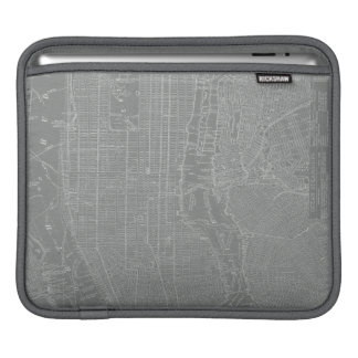 Sketch of New York City Map iPad Sleeve