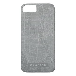 Sketch of New York City Map iPhone 8/7 Case
