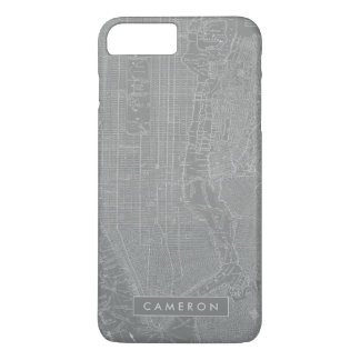 Sketch of New York City Map iPhone 8 Plus/7 Plus Case