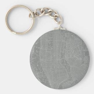 Sketch of New York City Map Key Ring