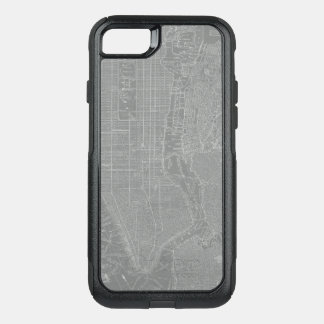 Sketch of New York City Map OtterBox Commuter iPhone 8/7 Case
