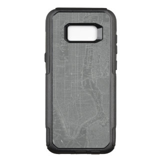 Sketch of New York City Map OtterBox Commuter Samsung Galaxy S8+ Case