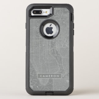 Sketch of New York City Map OtterBox Defender iPhone 8 Plus/7 Plus Case