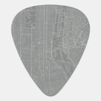 Sketch of New York City Map Plectrum