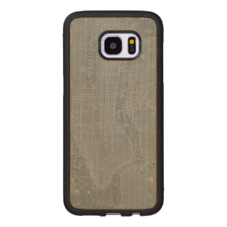 Sketch of New York City Map Wood Samsung Galaxy S7 Edge Case