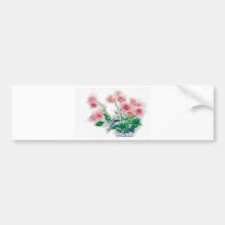 Sketch of Rose Bouquet Bumper Sticker
