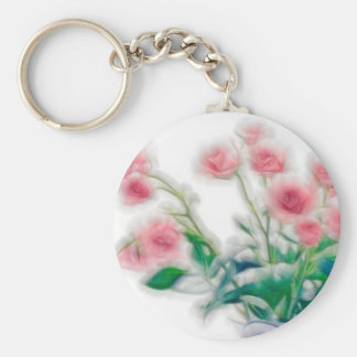 Sketch of Rose Bouquet Key Ring