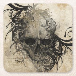 Sketch Of Tattoo Art, Handmade Illustration Square Paper Coaster