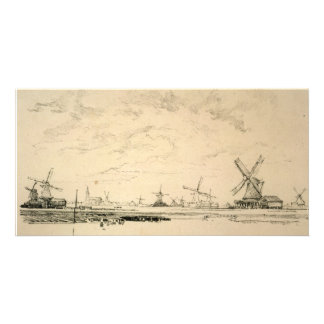 Sketch of Windmills collector photo cards