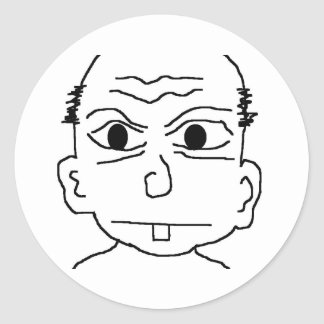 sketch round sticker
