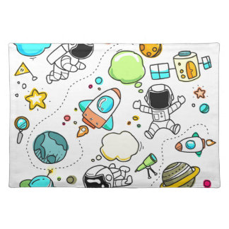 Sketch set cute collection child placemat