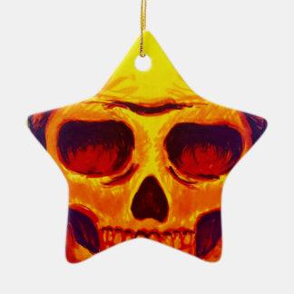 Sketch Skull Ceramic Ornament