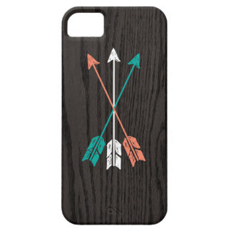 Sketched Arrows On Woodgrain iPhone 5 Cover