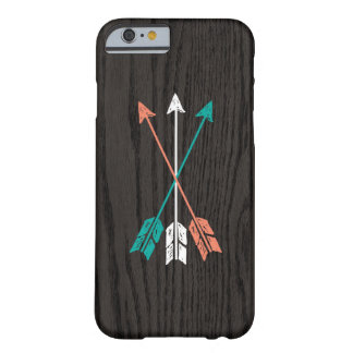 Sketched Arrows On Woodgrain iPhone 6 Case