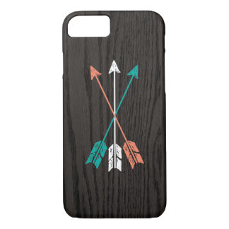 Sketched Arrows On Woodgrain iPhone 7 Case