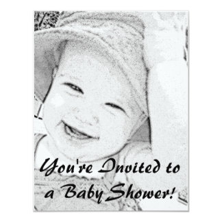 Sketched Baby Shower Invitation