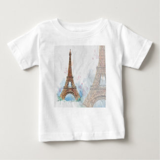 Sketched colored eiffel tower paris good idea baby T-Shirt