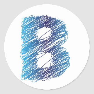 Sketched Letter B Stickers