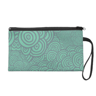 Sketched Rings Wristlet Purse